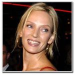 Uma Thurman - Round face shape